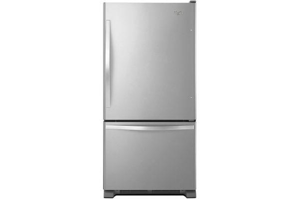 Large image of Whirlpool Stainless Steel Bottom Freezer Refrigerator - WRB322DMBM