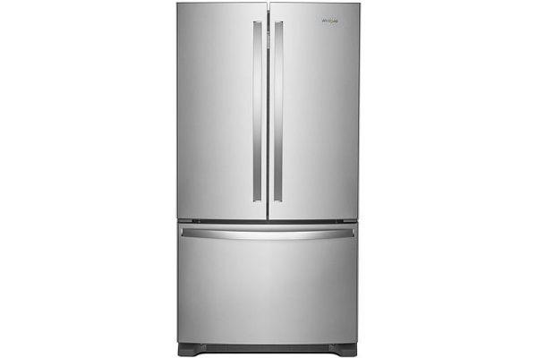 "Whirlpool 36"" Fingerprint Resistant Stainless Steel French Door Counter Depth Refrigerator - WRF540CWHZ"