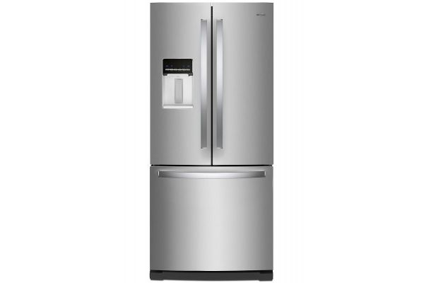 "Large image of Whirlpool 30"" Fingerprint Resistant Stainless Steel French Door Refrigerator - WRF560SEHZ"