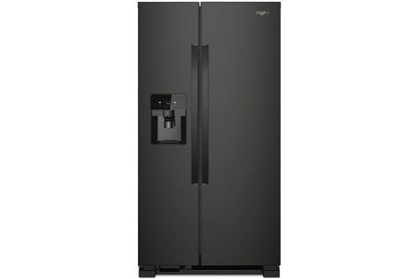 Large image of Whirlpool Black Side-By-Side Refrigerator - WRS325SDHB