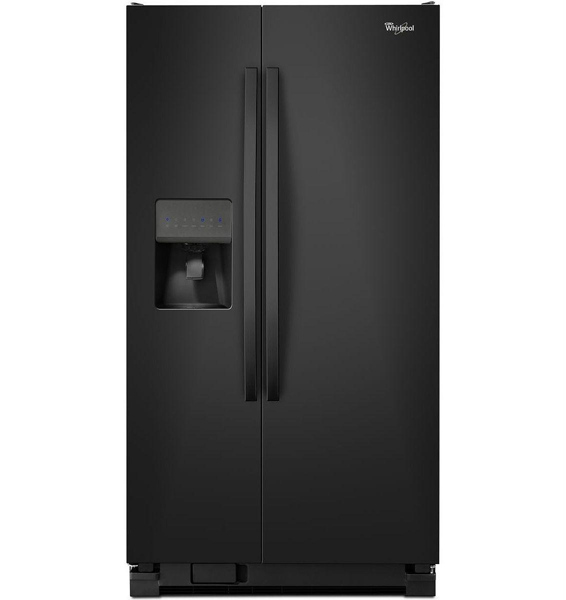 Whirlpool black side by side refrigerator wrs335fddb - Whirlpool side by side ...