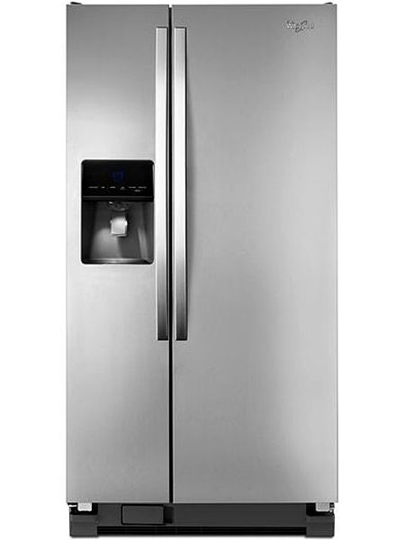 Whirlpool 22 Cu Ft Stainless Refrigerator Wrs342fiam