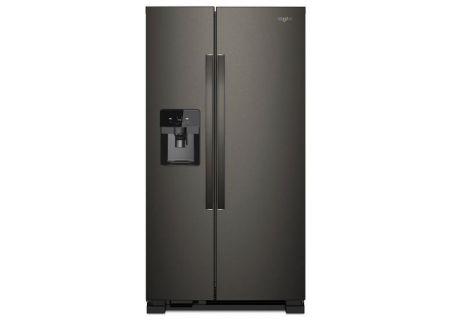 "Whirlpool 36"" Black Stainless Steel Side-By-Side Refrigerator - WRS555SIHV"
