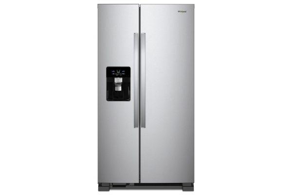 "Large image of Whirlpool 36"" Fingerprint Resistant Stainless Steel Side-By-Side Refrigerator - WRS555SIHZ"