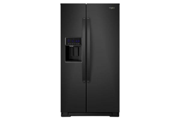 "Whirlpool 36"" Black Counter Depth Side-By-Side Refrigerator - WRS571CIHB"