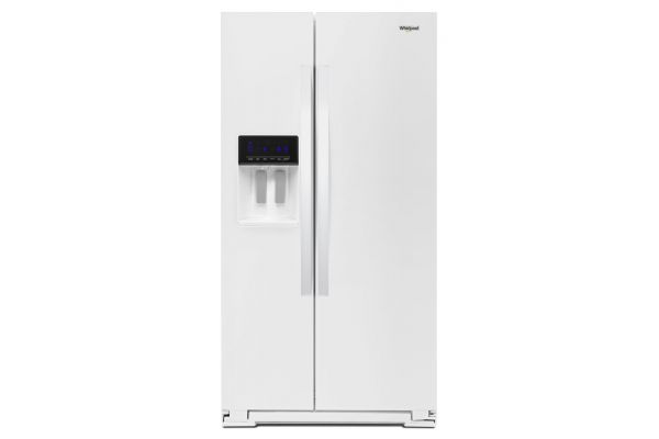"""Large image of Whirlpool 36"""" White Counter Depth Side-By-Side Refrigerator - WRS571CIHW"""