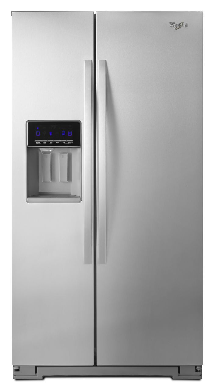 Whirlpool stainless side by side refrigerator wrs586fiem - Whirlpool side by side ...