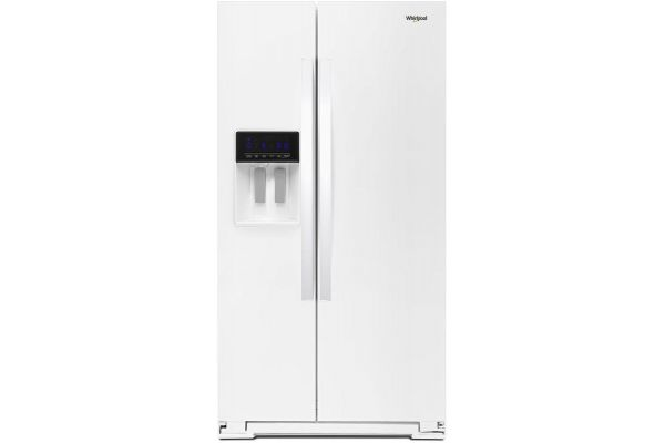 """Large image of Whirlpool 36"""" White Side-By-Side Refrigerator - WRS588FIHW"""