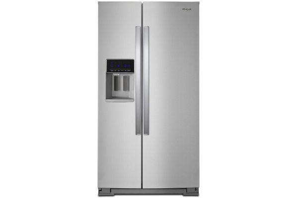 "Large image of Whirlpool 36"" Fingerprint Resistant Stainless Steel Side-By-Side Refrigerator - WRS588FIHZ"