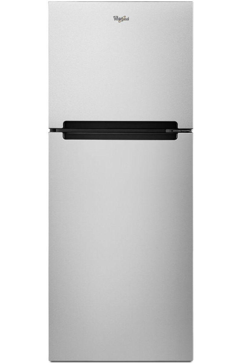 Whirlpool Monochromatic Stainless Steel Top Freezer Refrigerator