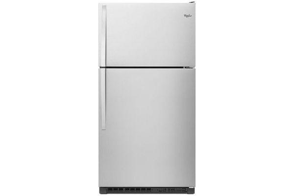 "Large image of Whirlpool 33"" Monochromatic Stainless Steel Top-Freezer Refrigerator - WRT311FZDM"