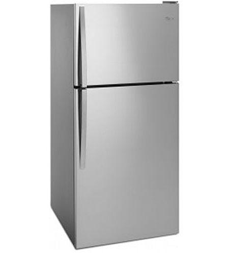 Whirlpool Monochromatic Stainless Steel Top Freezer Refrigerator Wrt318fzdmss