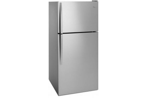 Whirlpool Monochromatic Stainless Steel Top-Freezer Refrigerator - WRT318FZDMSS