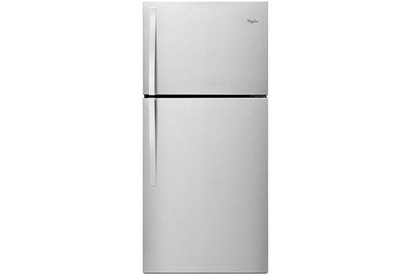 "Large image of Whirlpool 30"" Monochromatic Stainless Steel Top-Freezer Refrigerator - WRT519SZDM"
