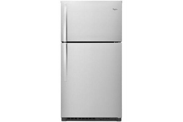 "Large image of Whirlpool 33"" Monochromatic Stainless Steel Top-Freezer Refrigerator - WRT541SZDM"