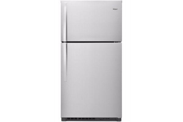 "Large image of Whirlpool 33"" Fingerprint Resistant Stainless Steel Top-Freezer Refrigerator - WRT541SZDZ"