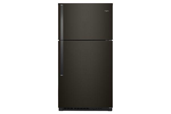 "Large image of Whirlpool 33"" Fingerprint Resistant Black Stainless Steel Top Freezer Refrigerator - WRT541SZHV"
