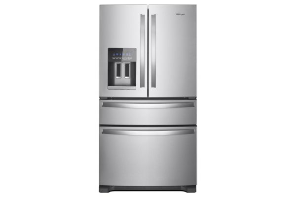 """Large image of Whirlpool 36"""" Stainless Steel French Door Refrigerator - WRX735SDHZ"""