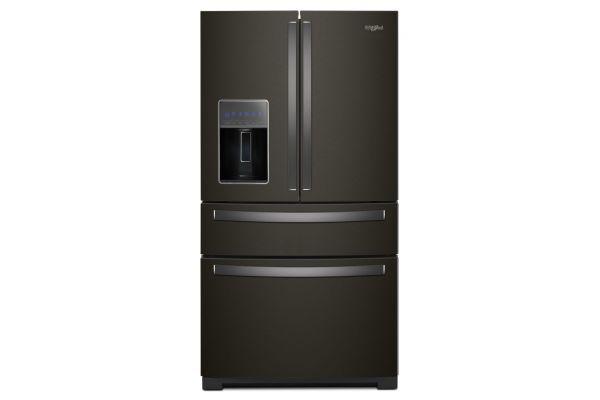 "Large image of Whirlpool 36"" Fingerprint Resistant Black Stainless Steel 4-Door Refrigerator With Exterior Drawer - WRX986SIHV"