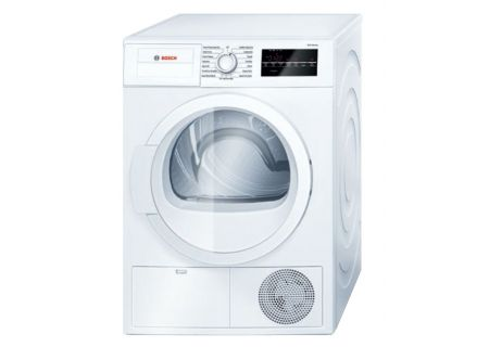 "Bosch 24"" 300 Series White Condensation Electric Dryer - WTG86400UC"