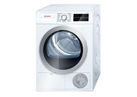 "Bosch 24"" 500 Series White Condensation Electric Dryer - WTG86401UC"