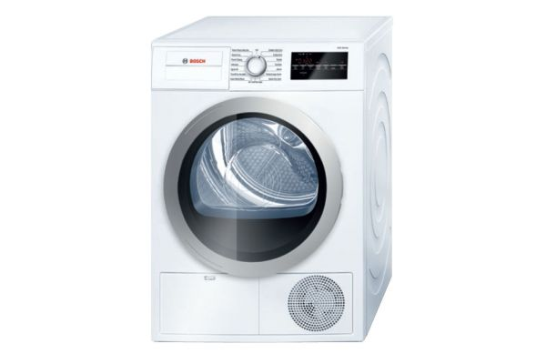 "Bosch 24"" 500 Series White Condensation Electric Dryer - WTG86401UC"