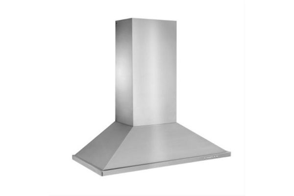 "Large image of Best 48"" Brushed Stainless Steel Wall Mount Chimney Hood - WTT32I48SB"