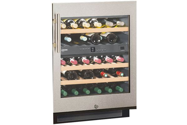 """Large image of Liebherr 24"""" Stainless Steel Under Counter Wine Refrigerator - WU-3400"""