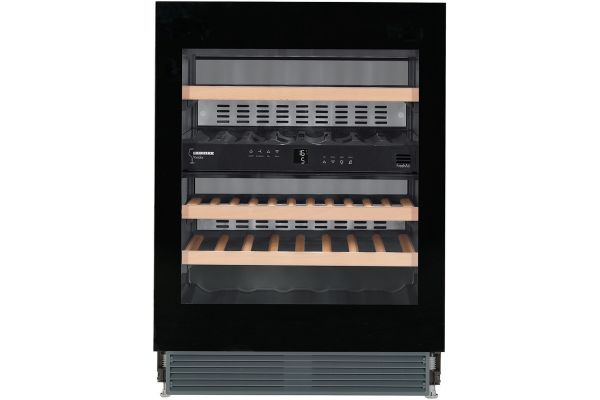 """Large image of Liebherr 24"""" Black Frame Undercounter Dual Zone Wine Chiller - WUGB-3400"""
