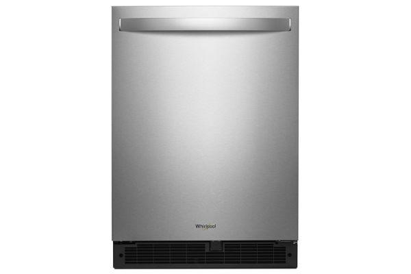 "Whirlpool 24"" Fingerprint Resistant Stainless Steel Undercounter Refrigerator - WUR50X24HZ"