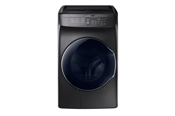 Samsung Fingerprint Resistant Black Stainless Steel FlexWash Washer  - WV55M9600AV