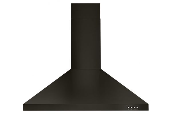 """Large image of Whirlpool 30"""" Black Stainless Steel Contemporary Wall Hood - WVW53UC0HV"""