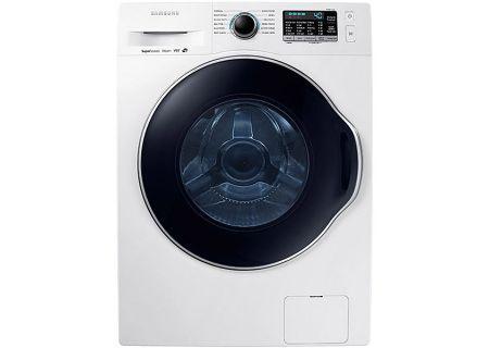 Samsung White Front Load Steam Washer - WW22K6800AW