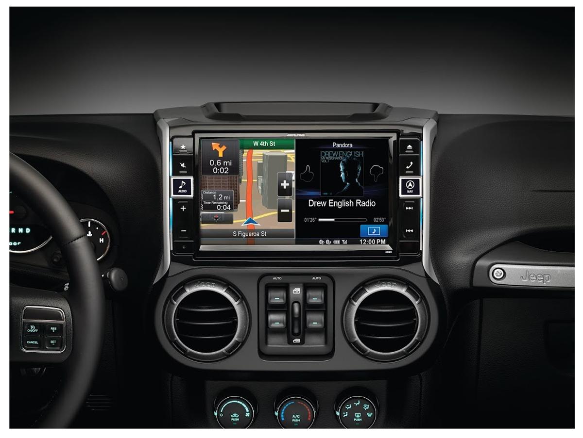 alpine navigation jeep wrangler 2011 and newer x009 wra. Black Bedroom Furniture Sets. Home Design Ideas