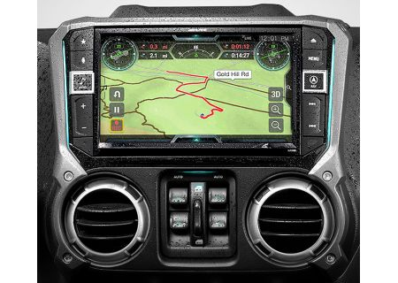 "Alpine 9"" Weather Resistant Restyle Dash System For Jeep Wrangler JK 2011-Up - X209-WRA-OR"