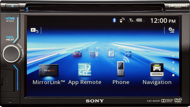 Sony Double DIN In Dash Smartphone Connected AV Receiver XAV602BT  #0B48BA
