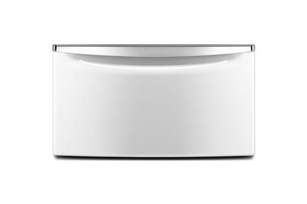 Large image of Maytag Washer or Dryer Pedestal w/ Drawer - XHPC155XW