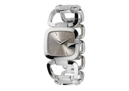 Gucci G-Gucci Collection Stainless Steel Medium Brown Dial Ladies Watch - YA125402