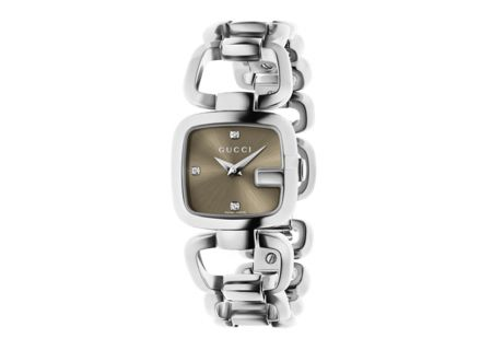 Gucci G-Gucci Collection Stainless Steel Small Brown Dial Ladies Watch - YA125503