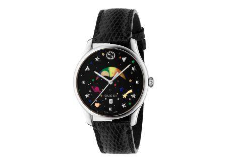 Gucci G-Timeless Moonphase Black Lizard Leather Strap Ladies Watch - YA1264045