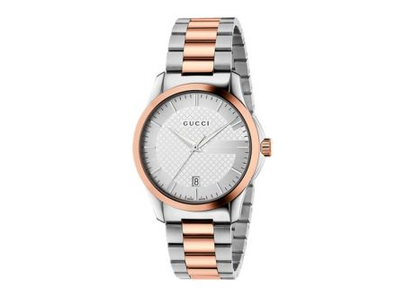Gucci G-Timeless Two-Tone Pink Gold Womens Watch - YA126447