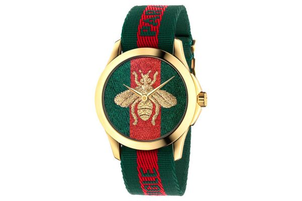 Gucci Le Marche des Merveilles Green And Red Web Womens Watch - YA126487