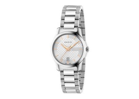Gucci G-Timeless Stainless Steel Quartz Ladies Watch - YA126523