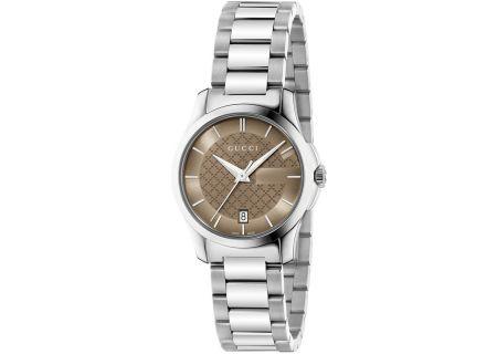 Gucci G-Timeless Brown Ladies Watch - YA126526