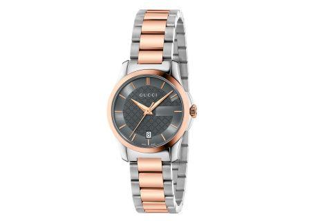 Gucci G-Timeless Two-Tone Pink Gold Womens Watch - YA126527