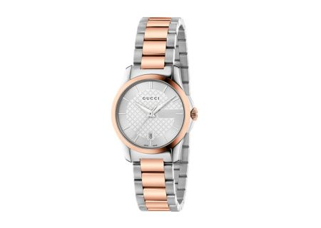 Gucci G-Timeless Two-Tone Pink Gold Womens Watch - YA126528
