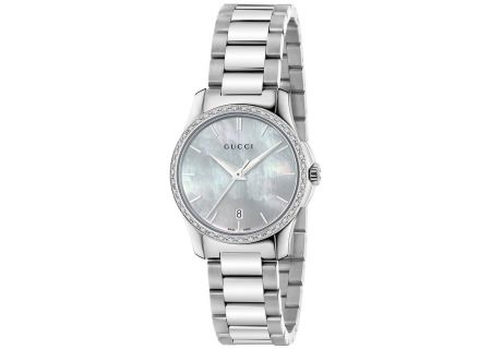 Gucci G-Timeless Mother Of Pearl Ladies Watch - YA126543