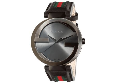 Gucci Interlocking Collection Extra-Large Anthracite Dial Mens Watch - YA133206