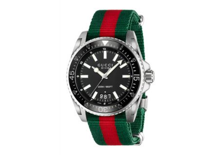 Gucci Dive Black Quartz Mens Watch - YA136206
