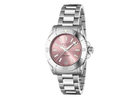 Gucci Dive Silver Tone Womens Watch - YA136401